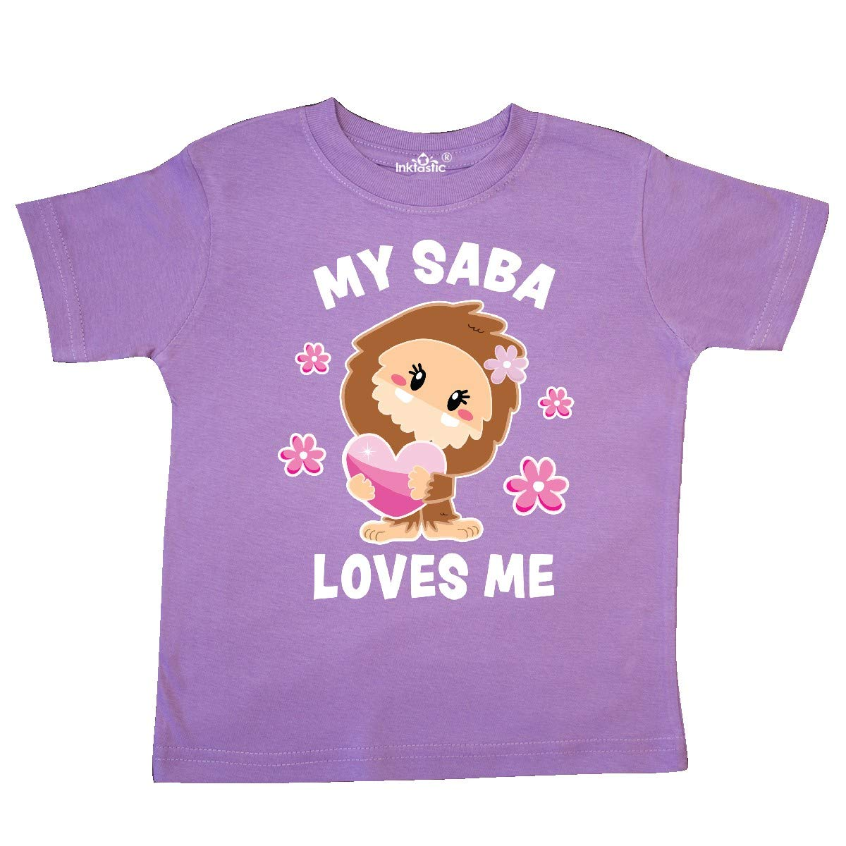 inktastic My Saba Loves Me with Bigfoot Toddler T-Shirt