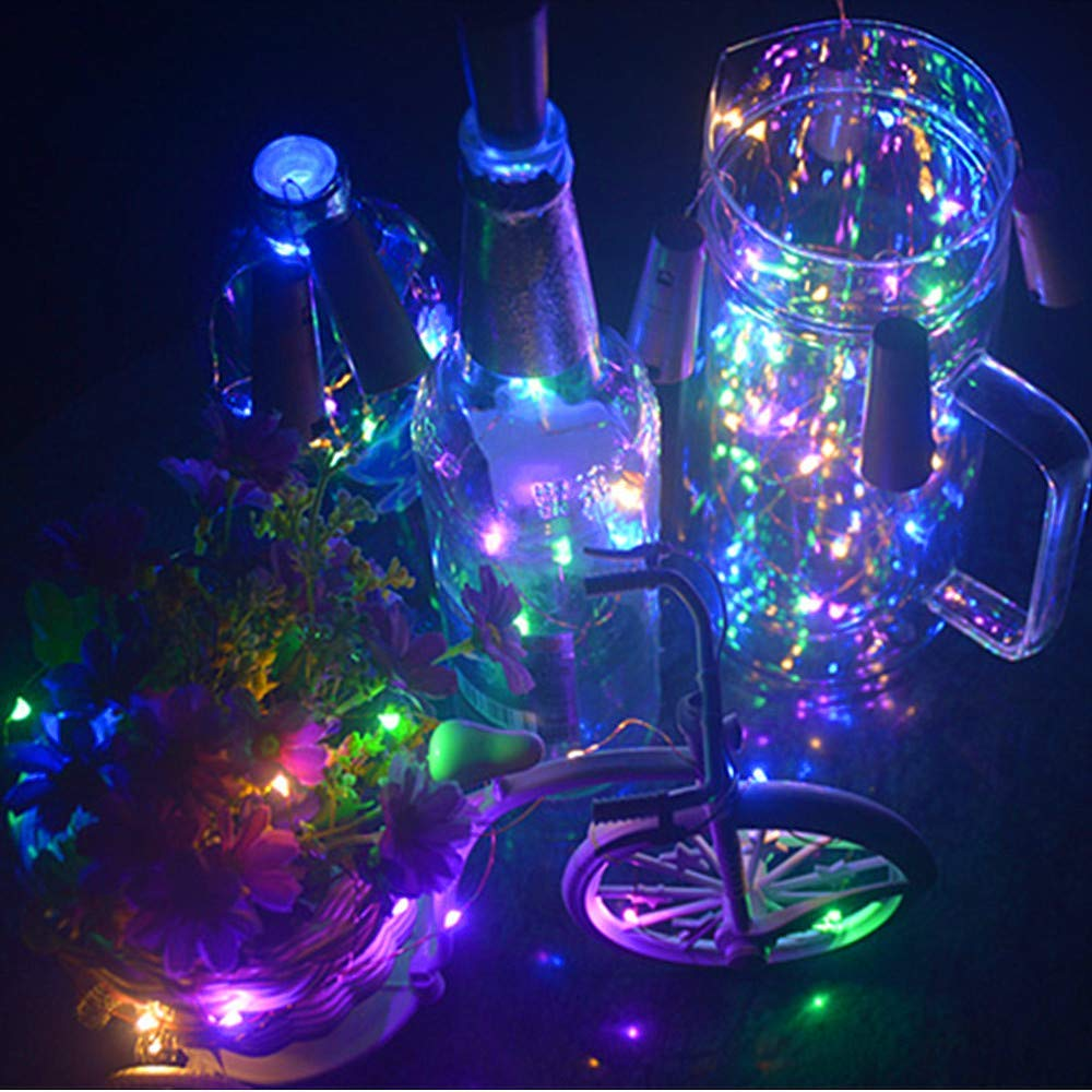 Warm White, 8 Pack Christmas 20 LED Wine Bottle Cork Lights Copper Wire String Lights Wedding Party D/écor 2M//7.2FT Battery Operated Wine Bottle Fairy Lights Bottle DIY LiyuanQ