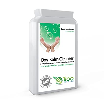 Oxy-Kalm Cleanser 100 Veg Capsules - Oxygen Therapy Based Intestinal Colon Cleanser