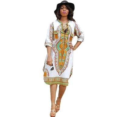 6f2040372c8 Koly Robe Femme Casual Profondes Robes Haute Elasticite Imprimer Bodycon  Partie V Neck Traditionnelle Africaine Nouveau