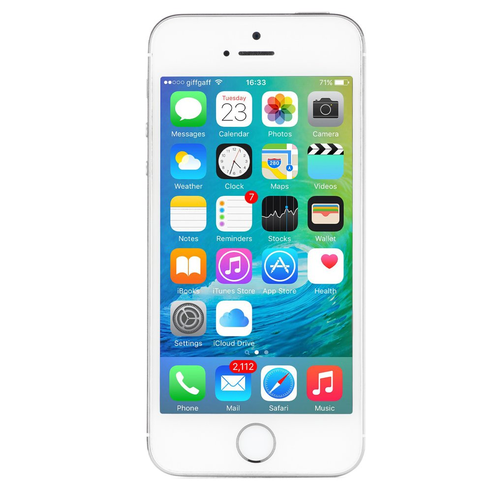 Apple iPhone 5S 16 GB AT&T, Silver by Apple (Image #1)