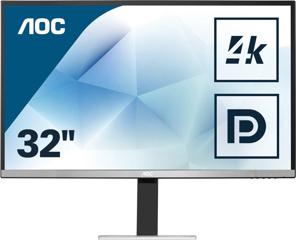 AOC Monitores U3277FWQ - Monitor de 31.5' (resolució n 3840 x 2160 Pixels, tecnologí a WLED, Contraste 3000:1, 4 ms, HDMI), Color Plata y Negro AOC Monitores U3277FWQ - Monitor de 31.5 (resolución 3840 x 2160 Pixels tecnología WLED