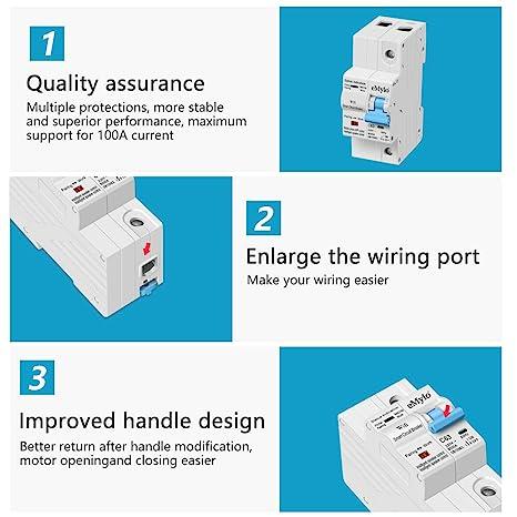 eMylo Disjoncteur WiFi intelligent 1P 63A 220-230V interrupteur de disjoncteur miniature /à r/éenclenchement automatique minuterie de Protection contre les surcharges interrupteur t/él/écommande sans fil