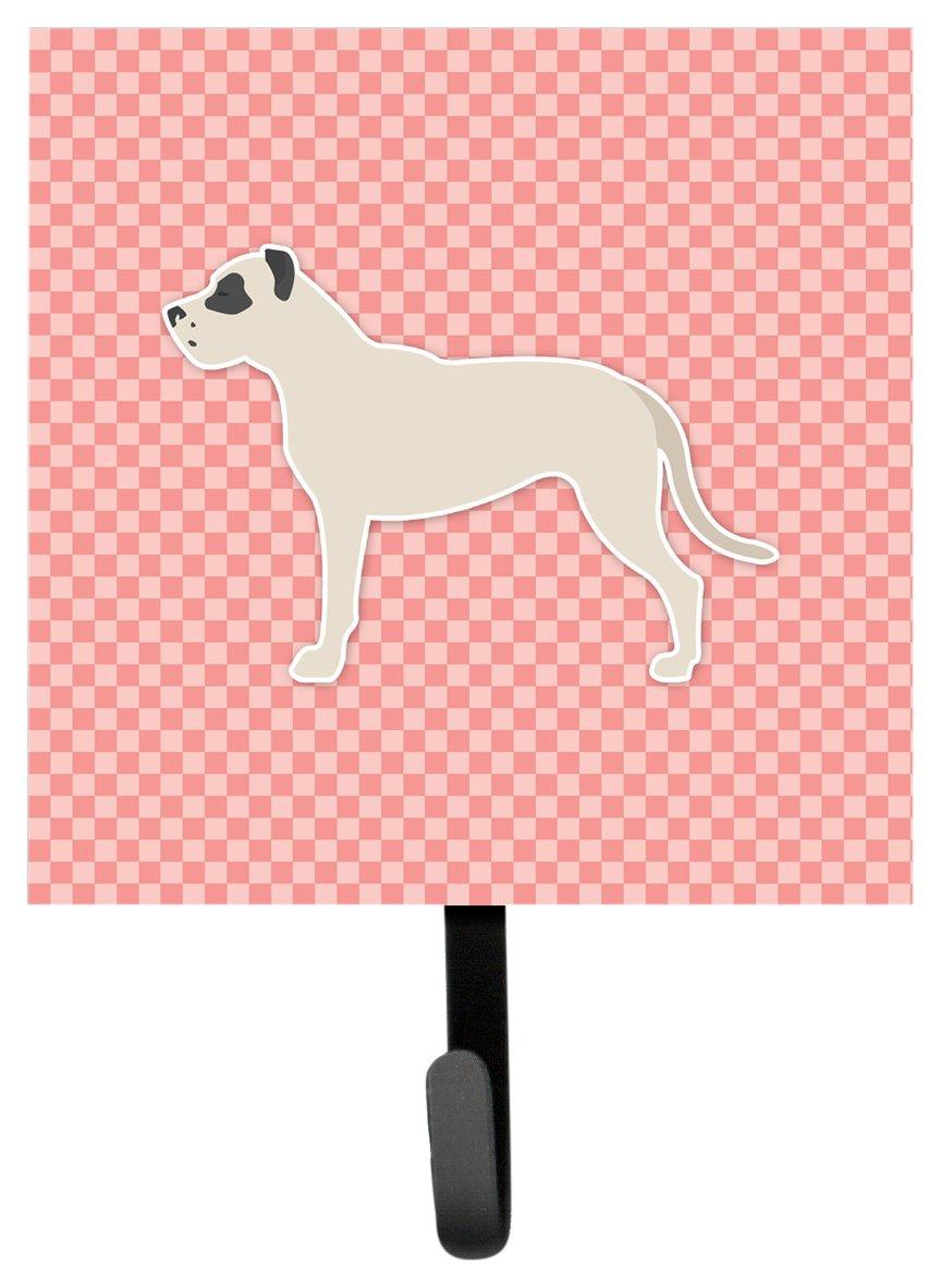 Carolines Treasures Dogo Argentino Checkerboard Pink Leash or Key Holder BB3667SH4 Small Multicolor