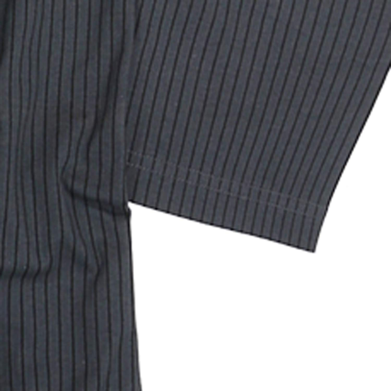 ADAMO Langarm-Nachthemd anthrazit mit schwarzen Streifen bis /Übergr/ö/ße 10XL