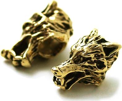 Wolf Dragon Viking Bronze beard bead Ring dreadlock hair