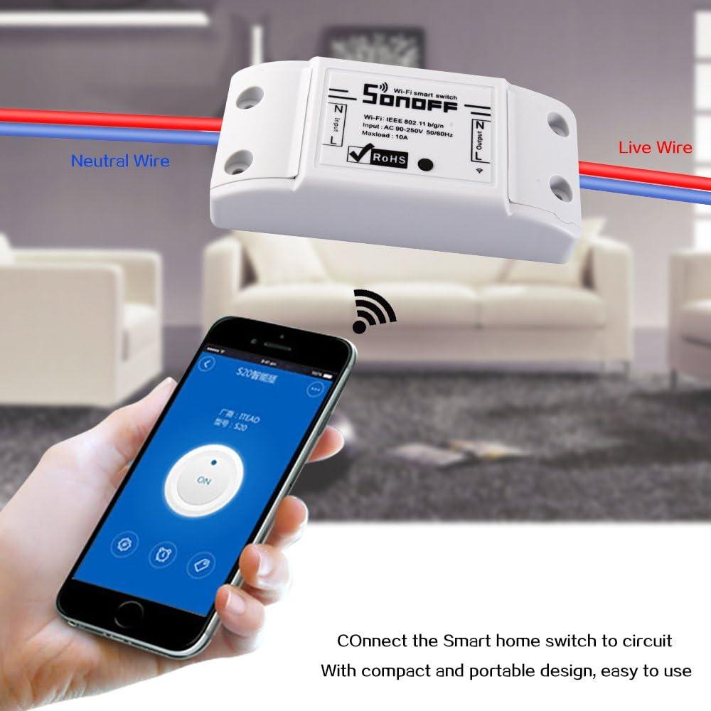 3pcs 10A DIY Smart WiFi General Modification Remote Control Power Shut with Smart APP Docooler