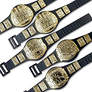 Set of 5 Championship Belts For WWE Wrestling Action Figures