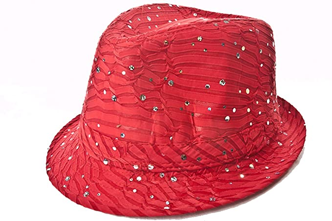 Sparkle Glitter Fedora   Red   Red Hat Lady Society at Amazon ... b247db00e72