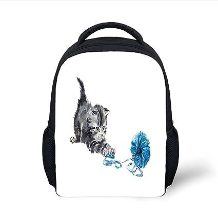 82c668d5f166 Amazon.com  iPrint Kids School Backpack Cat