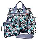 Diaper Bag - Shoulder and Stroller Diaper Bag, Waterproof, Blue Polka-dot