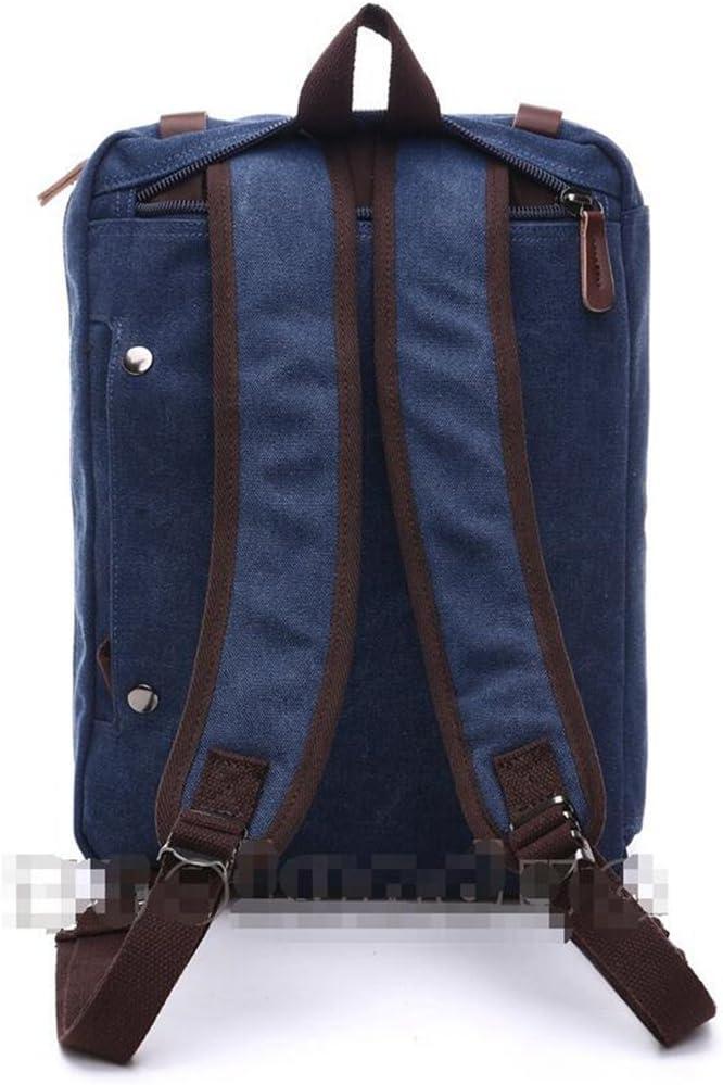 Sucastle Casual bag fashion bag backpack handbag shoulder bag canvas bag Sucastle Color:blue Size:38.5x28.5x13cm