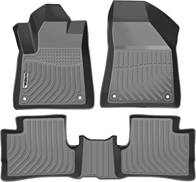 orealtrend Black TPO Floor Mats Liners for Ford Edge 2015 2016 2017 2018 2019 Heavy Duty All Weather Guard Front and Rear Car Carpet-Custom Fit-Tough//Durable//Odorless