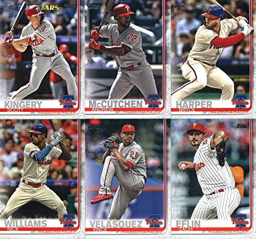 2019 Topps Series 2 Baseball Philadelphia Phillies Team Set of 10 Cards: Andrew McCutchen(#395), Bryce Harper(#400), Roman Quinn(#430), Zach Eflin(#455), Scott Kingery(#472), Vince Velasquez(#480), Aaron Altherr(#534), Nick Williams(#543), Tommy Hunter(#619), Pat Neshek(#668) (Philadelphia Phillies Series)