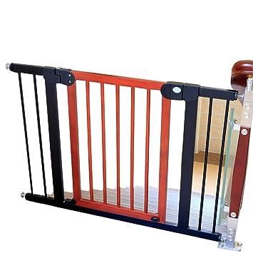 Barrera seguridad Puertas Extra Anchas de Madera para Puertas de escaleras, compuerta para Mascotas con