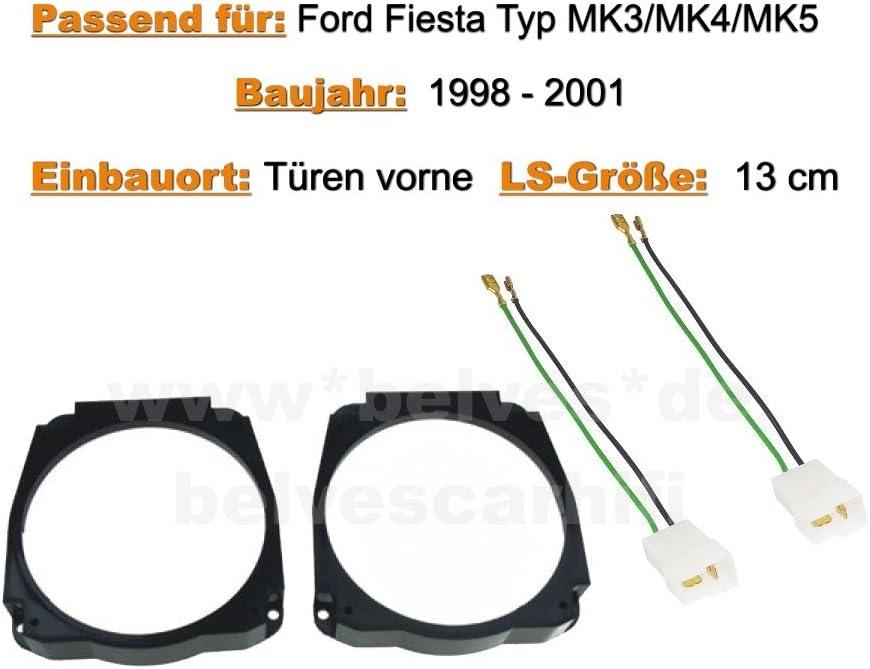 Crunch DSX 52 1988 a 2001 MK4 y MK5 Altavoces de puerta para Ford Fiesta MK3