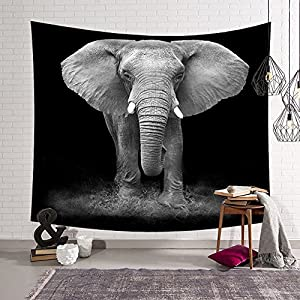 QCWN Elephant Tapestry Animal Series Wall Hanging Home Decoration for Bedroom and Living Room