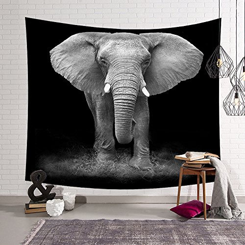 - QCWN Elephant Tapestry Animal Series Wall Hanging Home Decoration for Bedroom and Living Room (4, 78Wx59L)