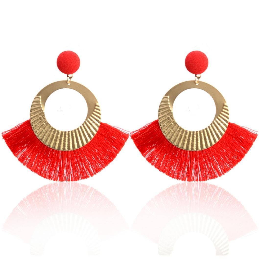 Boucles d'oreilles Boho Bijoux, Ajouré style grand cercle cristal glands pendentif goujon boucles d'oreilles bijoux de mode Covermason-Beauté Covermason_1
