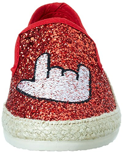 I I Rouge 700 love Femme love Glitter candies Red Mocassins Ofx6Hqwd