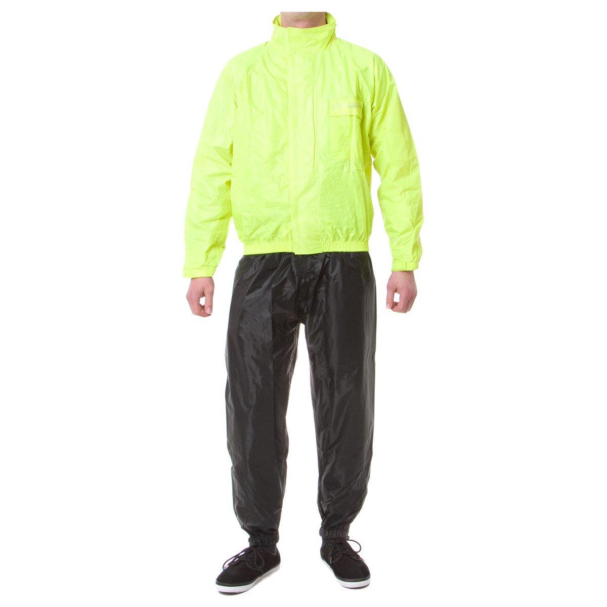 Acerbis Regen-Set Rain Suit Logo Fluo Gelb Schwarz