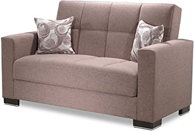 Casamode Armada Loveseat Brown Chenille Polyester