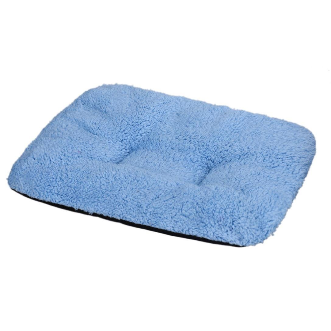 31*37cm Soft Warm Dog Puppy Cat Blanket Pet Cushion Sleep Mat by RenZhenDian (Blue) RZD01 RZD001