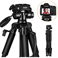 ESDDI 55'' Aluminum Tripod for DSLR Camera with Carrying Bag and Mounting