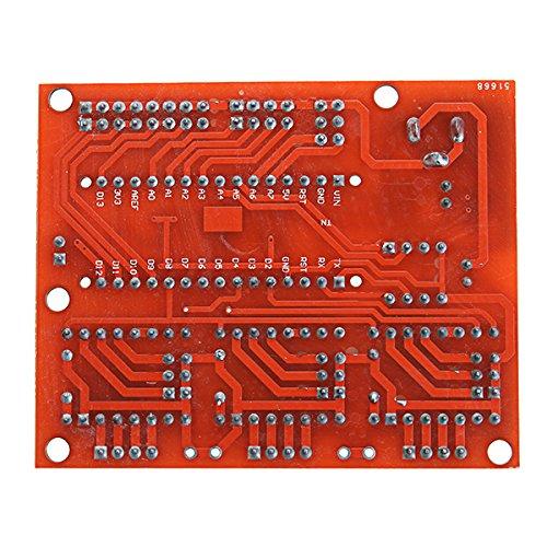 CNC Shield V4 Ils mit Nano 3.0 A4988 3 Achsen Schrittmotortreiberplatine f/ür Arduino