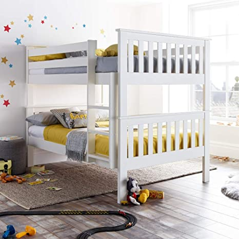 Camere Letto A Castello.Happy Beds Letto A Castello Americano In Legno Bianco Mobili Per