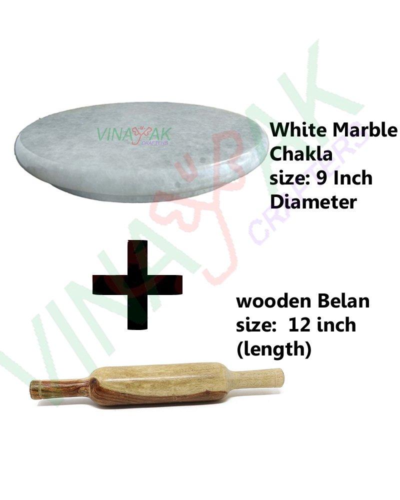 Vinayak Crafters Polpat-Roti Roller/Chakla-Belan/Rolling Pin, 22 cms Diameter product image