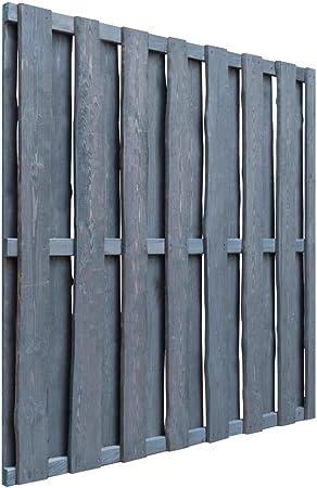 Festnight Puerta de Jardín Panel de Valla de Madera de Pino Impregnada Gris 180 x 180 cm: Amazon.es: Hogar