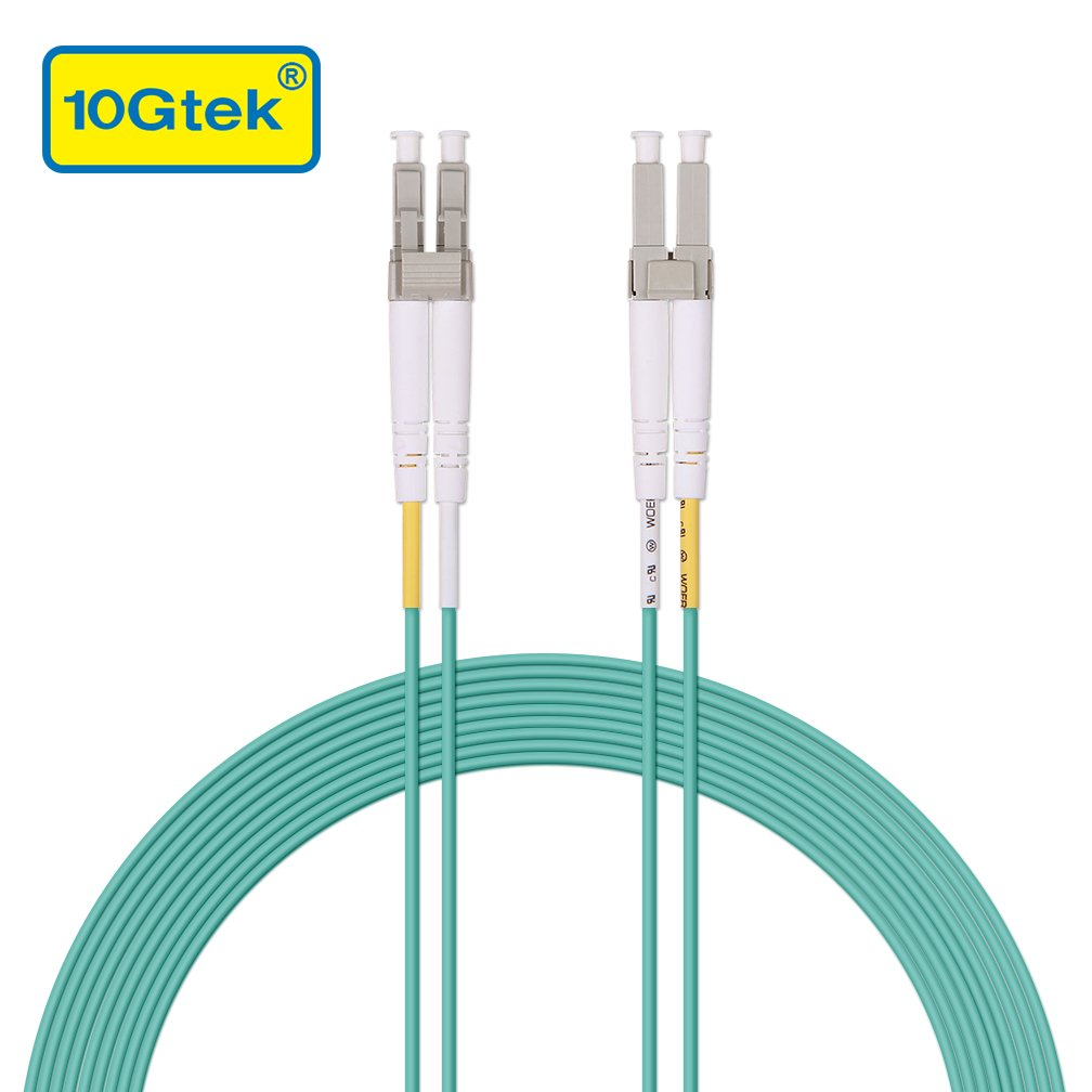 10Gtek/® LC to LC OM3 10Gb 10m Available 3.3ft to 160ft Multimode Fiber Optic Patch Cord Cable Duplex LSZH 50//125/μm for SFP /& 10G SFP+ 33ft