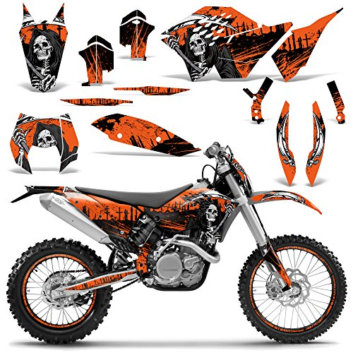 KTM SX XCR-W XCF-W EXC XC-W 2007-2011 Graphic Kit Dirt Bike Decal Backgrounds REAPER ORANGE