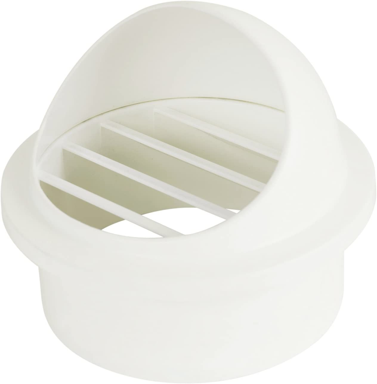 Hon&Guan ABS Air Vent Cover 4 Inch Wall Mount Grille Exhaust Outlet White(Round)