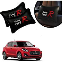 PulGos PulGos Car Neck Rest Cushion/Car Neck Rest Pillow for Maruti Suzuki Swift_(Pack of 2_Black)