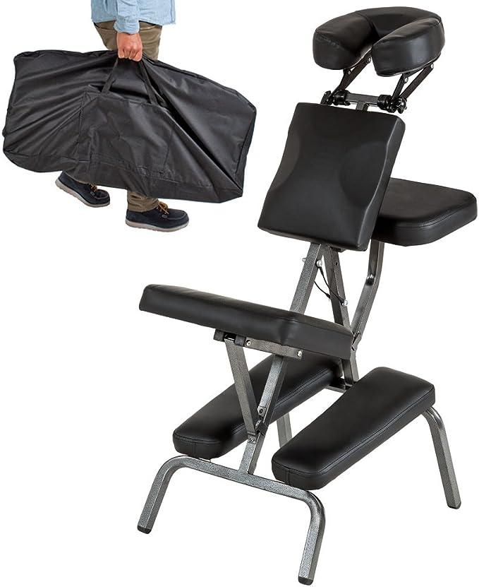 TecTake Silla de masaje fisioterapia rehabilitacion sillón de ...