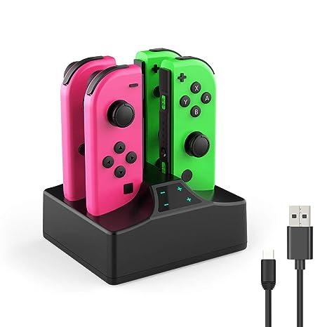 Amazon.com: Interruptor controlador cargador para Nintendo ...