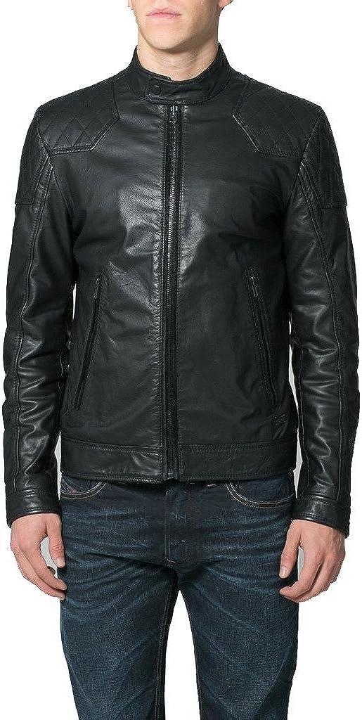 Genuine Sheep Leather Mens Slim Fit Party Jacket LT306