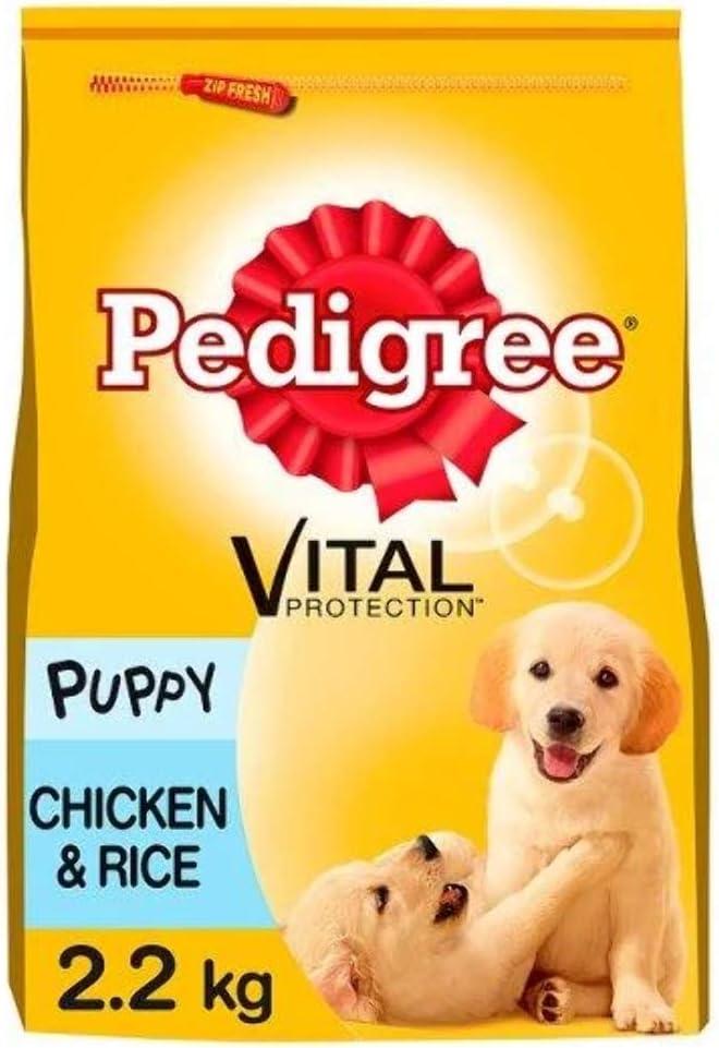 Pedigree Junior - Alimento seco para perros para perros jóvenes y cachorros medianos 2-12 meses con pollo y arroz, 2.2 kg, 1 unidad