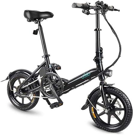 FIIDO D3 Ebike, bicicleta eléctrica plegable con faro de LED para ...
