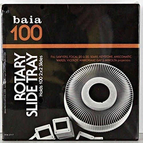 baia 100 Rotary Slide Tray fits: Sawyers, Focal 20 & 30, Sears Keystone, Anscomatic, Wards, Viceroy, Nikkormat, Gaf, & Minolta projectors