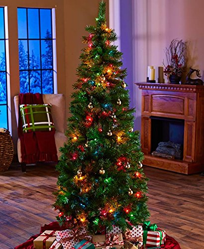 6-Ft. Pre-Lit Pop Up Christmas Tree (Multi-Colored Lights)