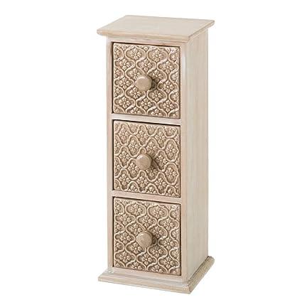 Mueble especiero de Madera con 3 cajones Beige clásico para Cocina Arabia - LOLAhome