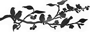 Vivegate Metal Birds Wall Art – Metal Birds Wall Decor Art Birds On A Wire Metal Bird Wall Decor Outdoor Bird Decor (Large - 36