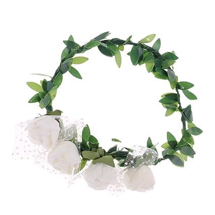 Amazon.com  Baoblaze 1 3 BJD Flower Wreath Hair Crown Headwear for ... 0cb4297535ed