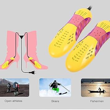 biuday Secador de Zapatos eléctrico de 1 par, Botas portátiles Calcetines, Calentadores, Botas, Guantes (Amarillo): Amazon.es: Hogar