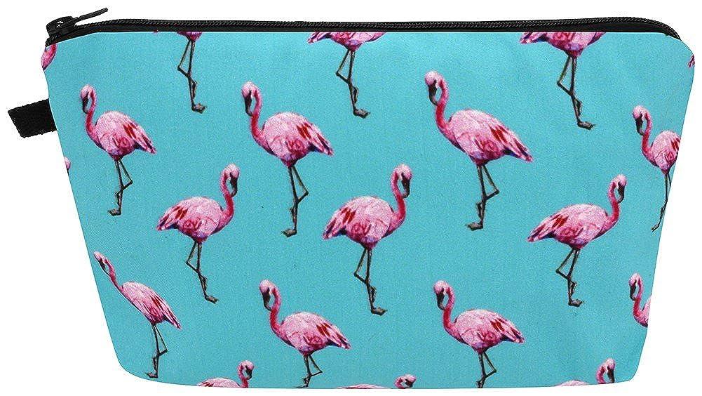 Flamingo Frenzy Azure Blue Make-up Bag 22x13.5x3cm