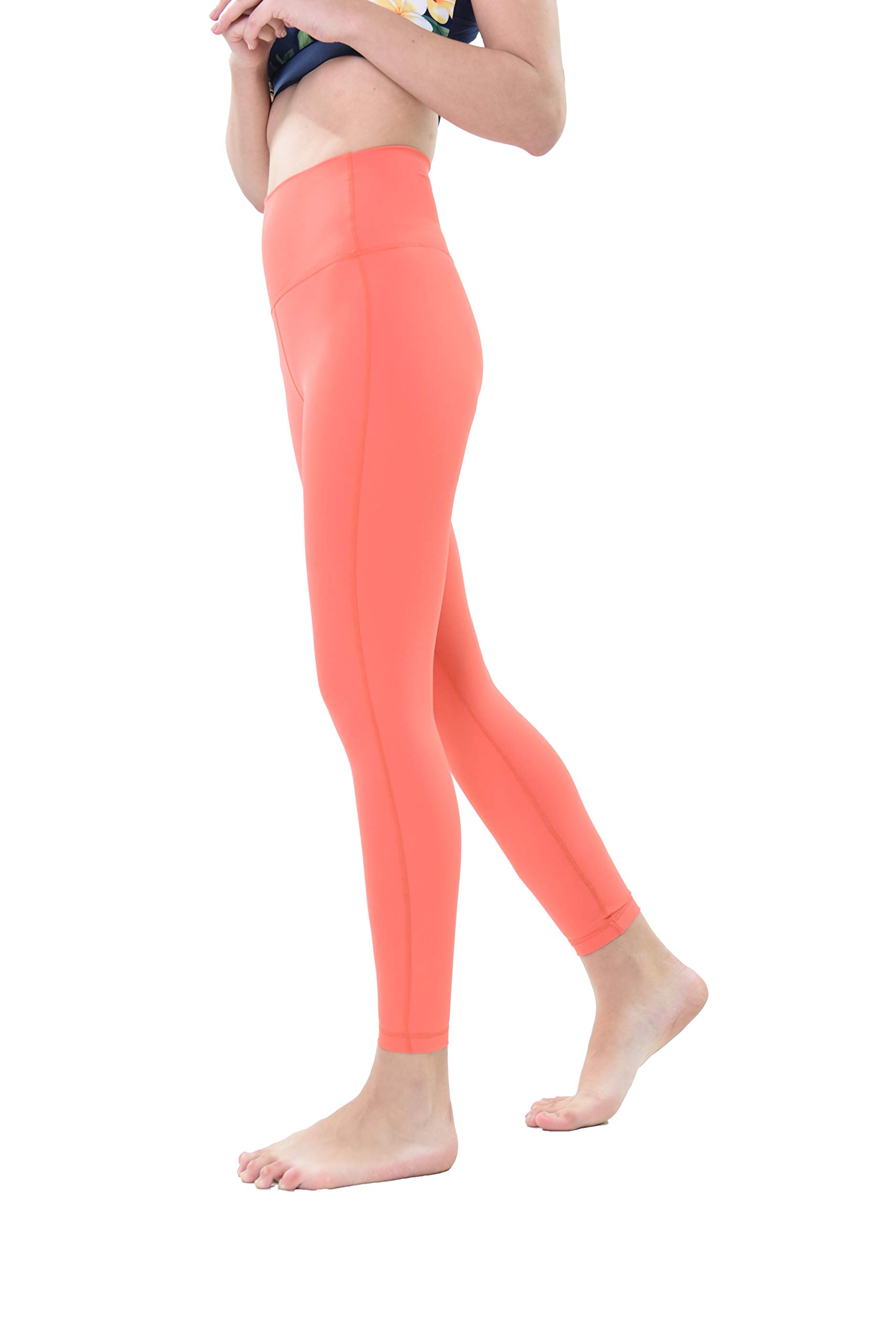 Private Island Women Swim Long Leggings UPF50+ Rash Guard Wetsuit (S, Coral) by Private Island