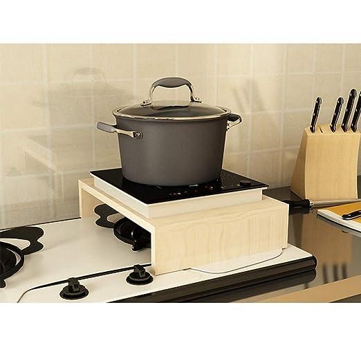 Nan Liang Estante Inducción Cocina Soporte Subgrupos Junta Cocina Estante Estufa de Gas Cocina de Gas Rack Rack Microondas Rack (40x30x8.6cm) No se oxida ...